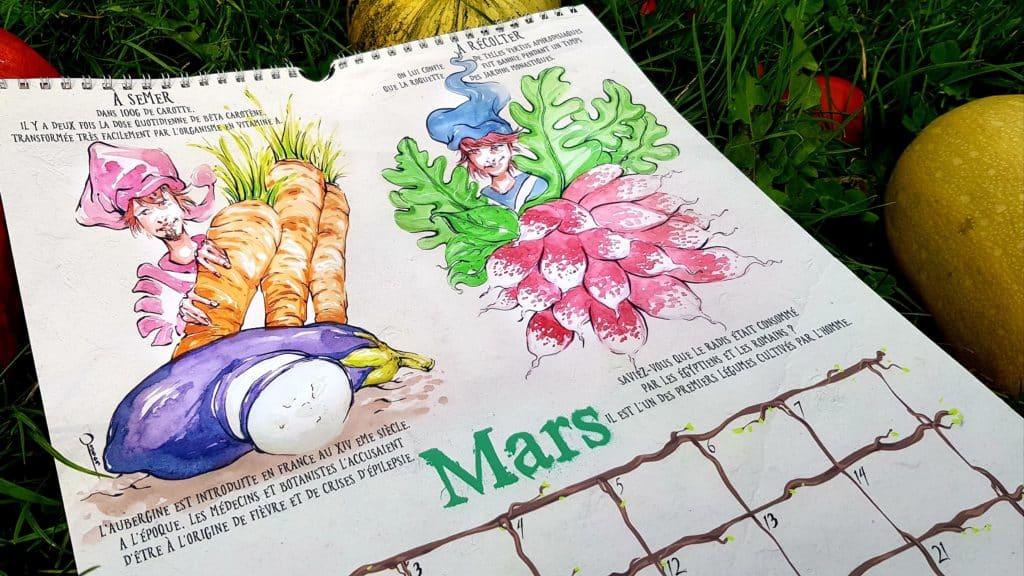 calendrier du potager mars